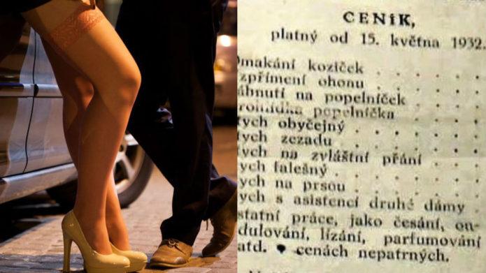 Historický cenník bordelu z roku 1932: Ohmatanie kozičiek za 5 korún a…!