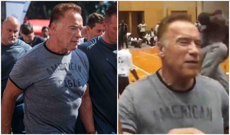 Arnolda Schwarzeneggera niekto zákerne napadol na akcii. Iný muž by toto zjavne nerozchodil!