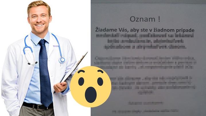 Košický lekár pobúril všetkých Slovákov: To, o čo žiada v ozname, nemá u nás obdoby!