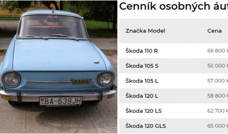 Koľko stáli autá za socializmu? Neskutočné ceny škodoviek a ostatných automobilov z roku 1978!