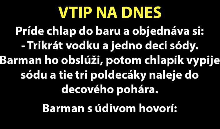 Do baru príde obchodná inšpekcia… (TOP VTIP)